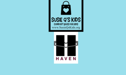 Haven (homeless shelter) receives Susie Q's Kids comfort bags