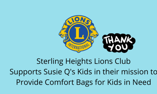 Sterling Heights Lions Club Provides Support to Susie Q's Kids