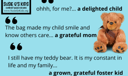 Various Quotes of Impact- Families  Love Susie Q's Kids Comfort Bags